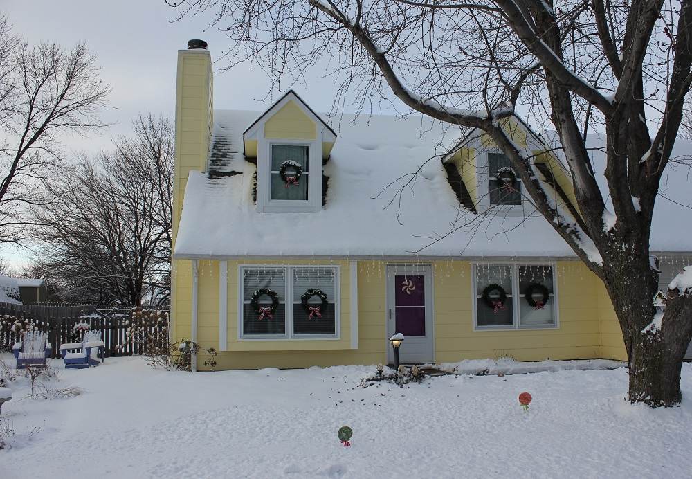 Our Lively Yellow House, Winter 2013.