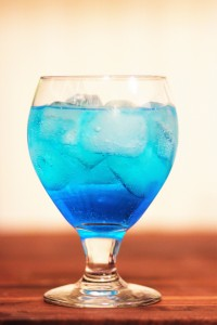 Blue Cauracao and Soda