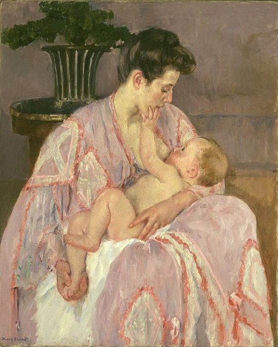 """Mother nursing her child"" 1906, Mary Cassatt"